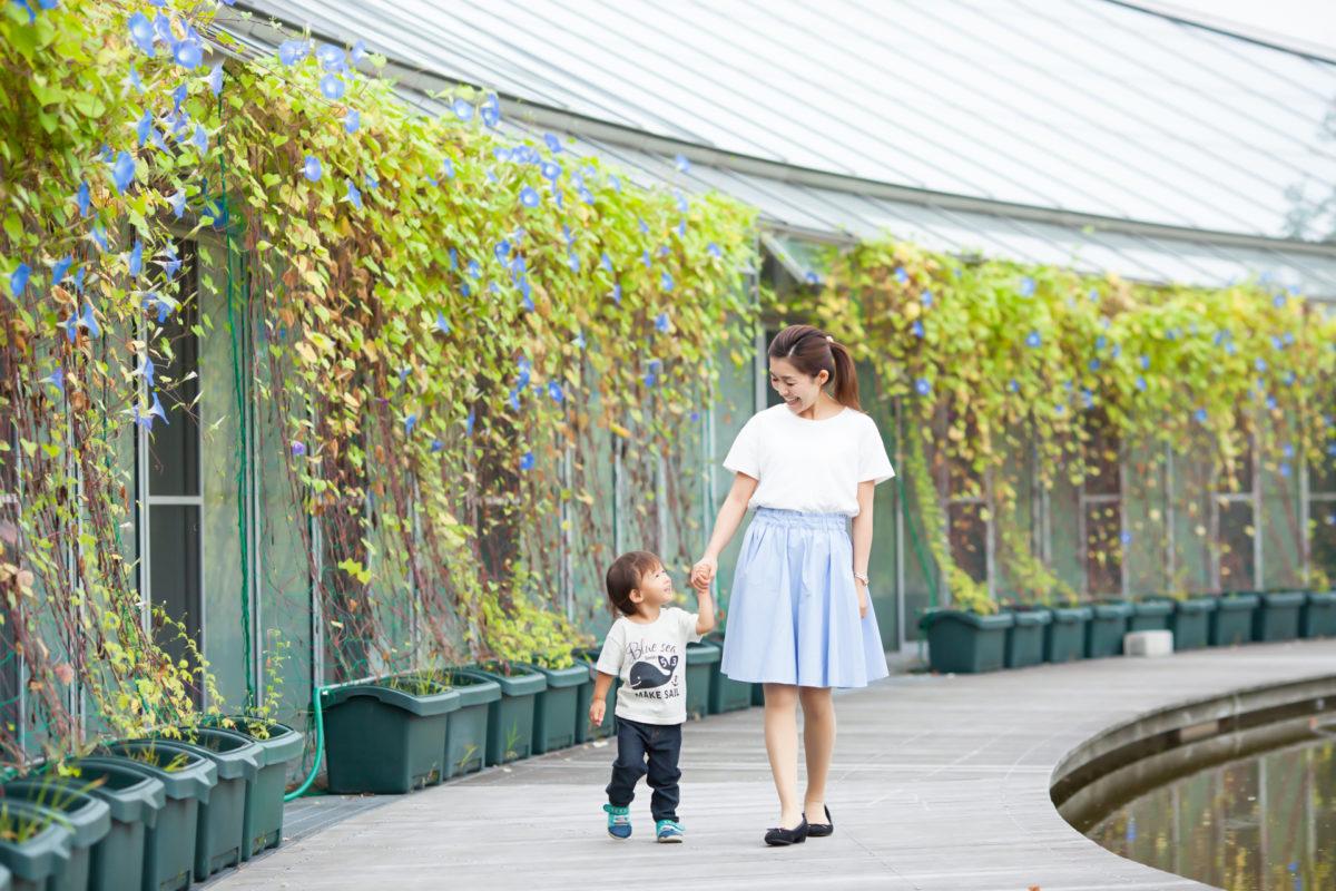 元気いっぱいのお子さまモデル&ママさんモデルの撮影