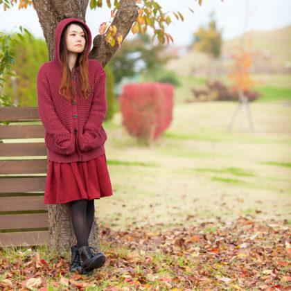 少しだけ秋っぽさを感じる屋外ロケ|山形モデルネット