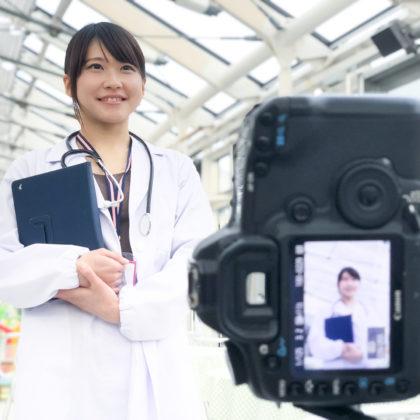 女医さんイメージ撮影中のスナップ
