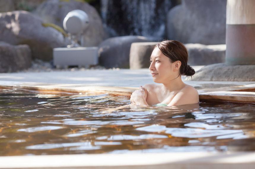 温泉露天風呂 撮影例
